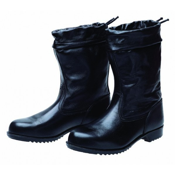 【送料無料】ドンケル 安全靴(半長靴)カバー付 ラバー1層底 耐滑 ブラック 26.5cm 1足