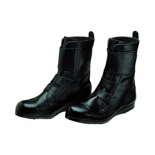 【送料無料】ドンケル マジック式高所・構内用安全靴 ワークブーツ ラバー1層底 耐滑 ブラック 24.0cm 1足