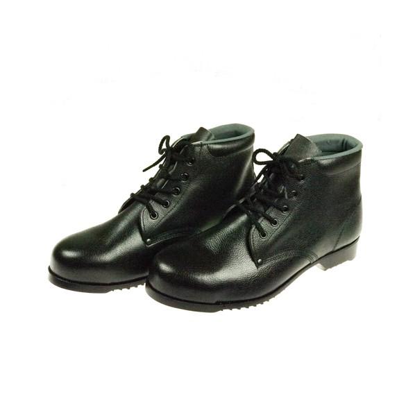 【送料無料】ドンケル 安全靴(ミドルカット)ラバー1層底 耐滑 ブラック 25.0cm 403G 1足