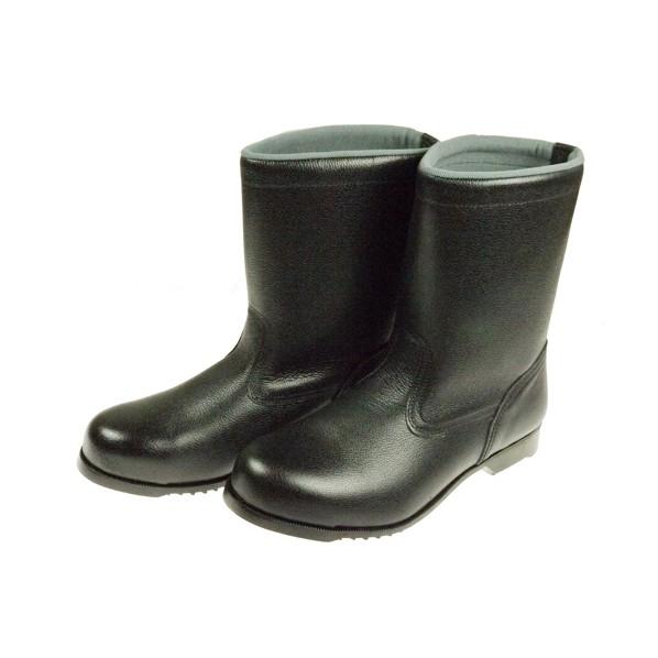【送料無料】ドンケル 安全靴(半長靴)ラバー1層底 耐滑 ブラック 25.0cm 406G 1足