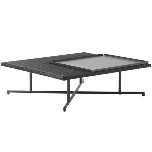 【送料無料】MA ローテーブル ブラック W920×D920×H310 660155 1個