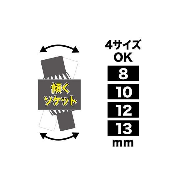 両口ダブルソケットレンチ(ショートタイプ)