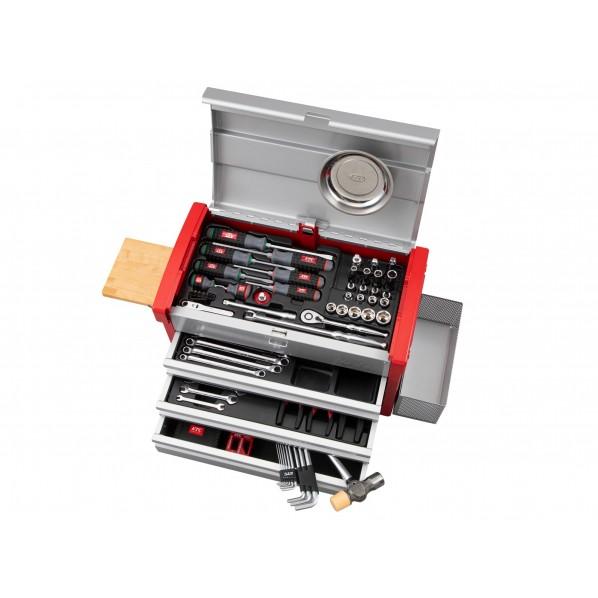 【送料無料】KTC 97点工具セット(エキスパートセット) シルバー×レッド SK59720E 1セット