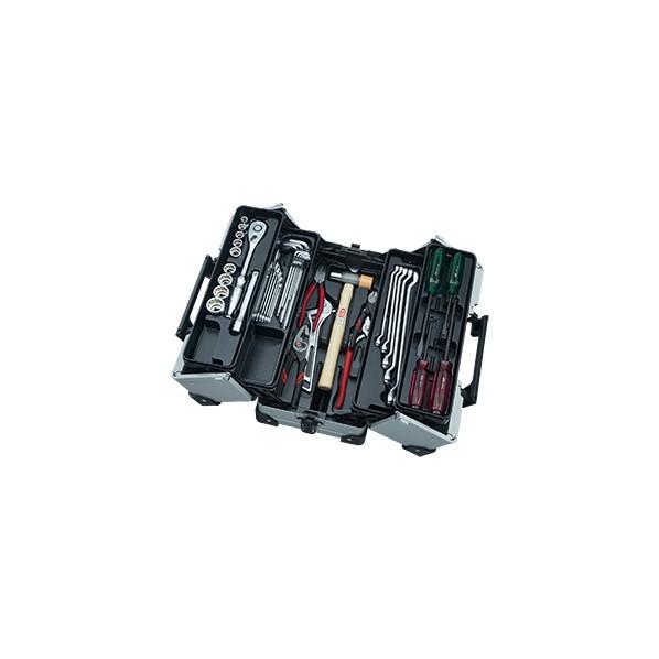 【送料無料】KTC 41点工具セット(両開きメタルケースセット) メタリックシルバー SK44120WMZ 1セット