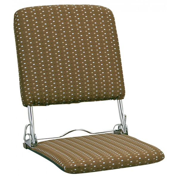 【送料無料】PLACE(プラス) 軽量折りたたみ式日本製座椅子 ブラウン YS-424 1個