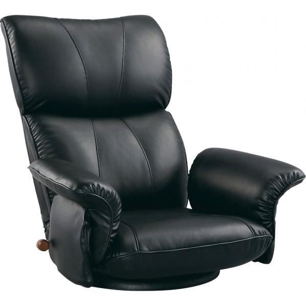 【送料無料】匠 スーパーソフトレザー座椅子 ブラック YS-1396HR 1個