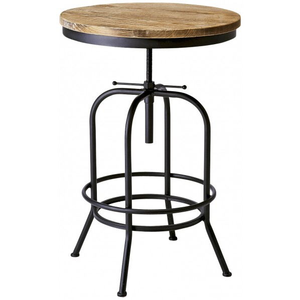 【送料無料】INDUSTRIAL(インダストリアル) 高さ昇降付きヴィンテージバーテーブル KNT-A401 1個