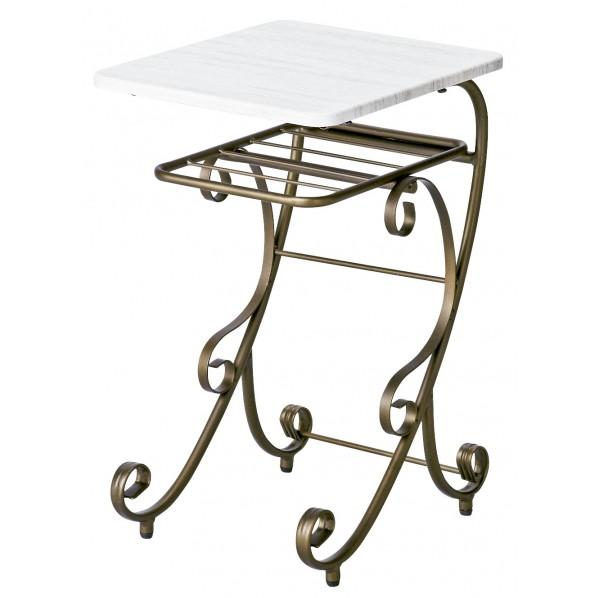 【送料無料】Celestia(セレスティア) アンティークゴールドのナイトテーブル NT-350 1個