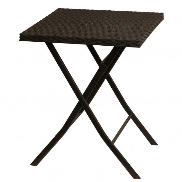 【送料無料】ベストコ ボタニカルインテリア ラタン調テーブル ブラウン 58×58×71cm NE-610 1個