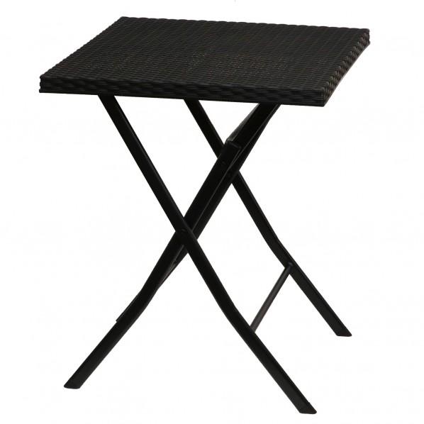 【送料無料】ベストコ ボタニカルインテリア ラタン調テーブル ブラック 58×58×71cm NE-612 1個