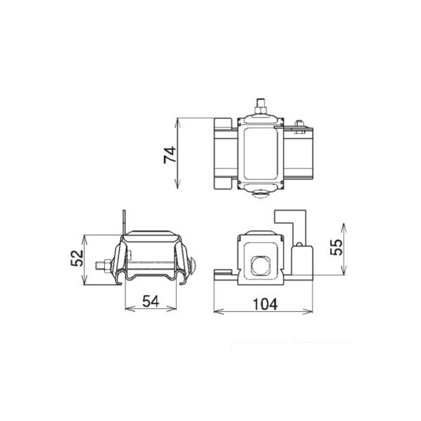【送料無料】SWALLOW D369 高耐食鋼板 生地 アトラスII 林式雪止 55mm アングル用 グレー(灰) 168700 60個
