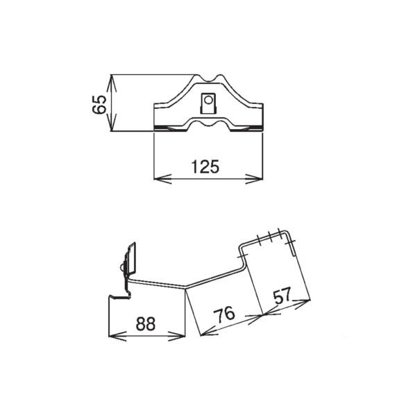 【送料無料】SWALLOW D333 304ステン 生地 メタル加工 富士型雪止(短足) 生地ステン色 178600 70個