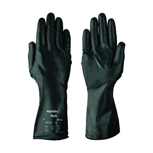 【送料無料】アンセル アンセル 耐薬品手袋 ケミテック 38−612 Lサイズ 38-612-9 1