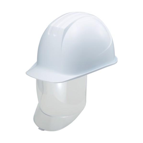 【送料無料】タニザワ タニザワ 大型シールド面付ヘルメット 溝付 ホワイト 292 x 223 x 161 mm ヘルメット・軽作業帽
