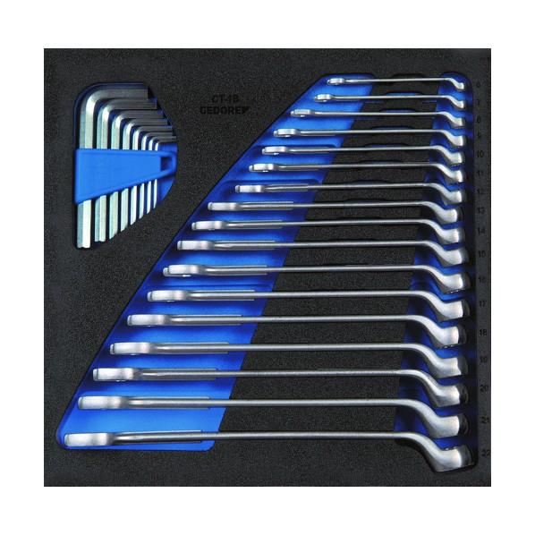 【送料無料】GEDORE GEDORE オフセットコンビスパナセット 1500CT2‐1B 330 x 332 x 65 mm 工具セット