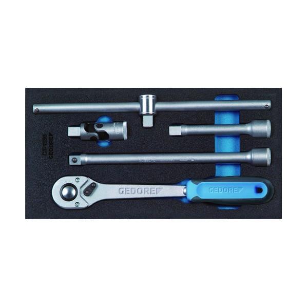 【送料無料】GEDORE GEDORE ソケットレンチセット1/2 1500CT1‐1993T 331 x 168 x 62 mm 工具セット