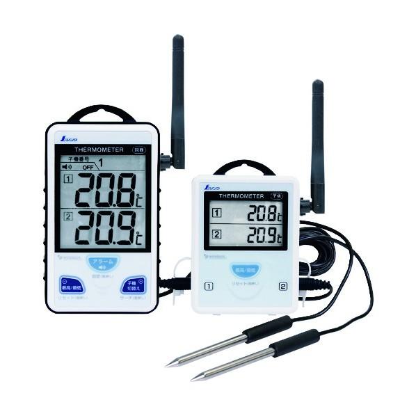ワイヤレス温度計 A 最高・最低 隔測式ツインプローブ 外部アンテナ型 73441