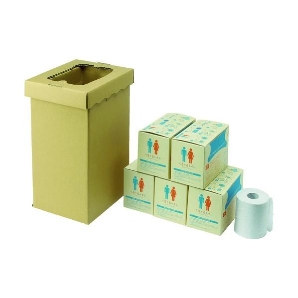 【送料無料】sanwa sanwa 非常用トイレ袋 くるくるトイレ100回分 430 x 270 x 220 mm 3S