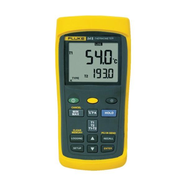 【送料無料】FLUKE FLUKE 温度計(ロガー機能付・2チャンネル) 220 x 165 x 65 mm 54-2B 1