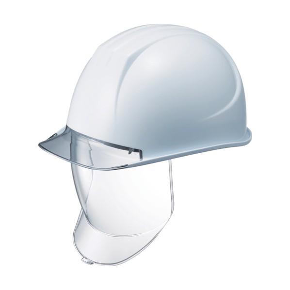 タニザワ 特大型ヘルメット 大型シールド面付 溝付 透明ひさし付