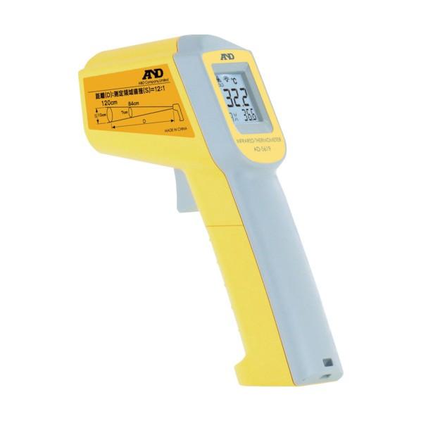 【送料無料】A&D 放射温度計 レーザーマーカーつき AD5619 10点