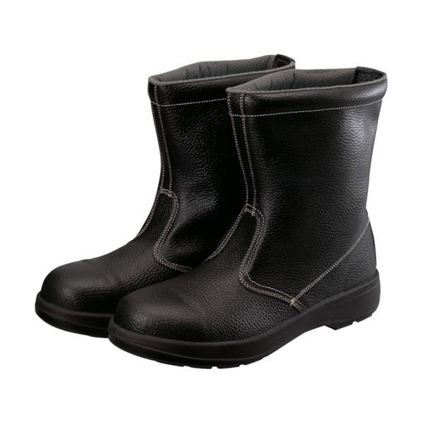 【送料無料】シモン シモン 2層ウレタン底安全半長靴 25.5cm ブラック 280 x 320 x 120 mm AW44BK-25.5 1個