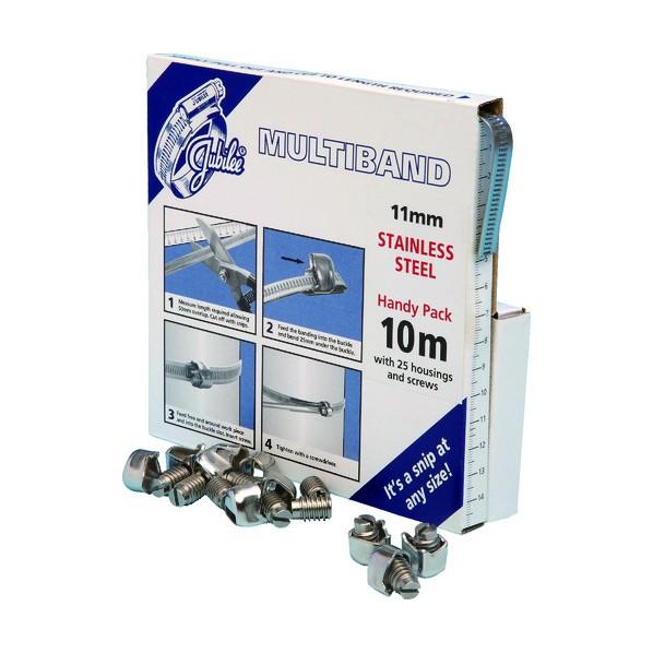 【送料無料】JUBILEE JUBILEE マルチバンドスクリューセット 11mm幅10m SUS304 162 x 164 x 36 mm ホース・散水用品