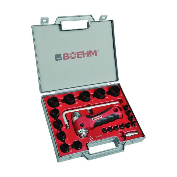 【送料無料】BOEHM BOEHM 穴あけポンチ 19個セット シールリングカッター付 240 x 310 x 55 mm JLB230PACC ハンマー・刻印・ポンチ 19個