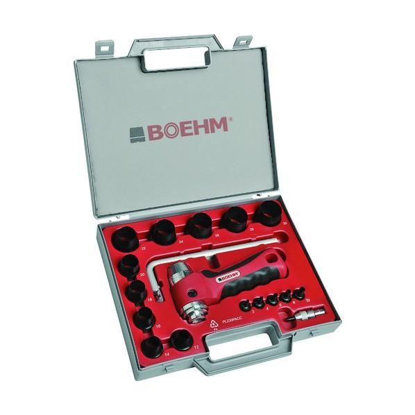 【送料無料】BOEHM BOEHM 穴あけポンチ 15個セット シールリングカッター付 313 x 244 x 61 mm JLB330PACC ハンマー・刻印・ポンチ 15個