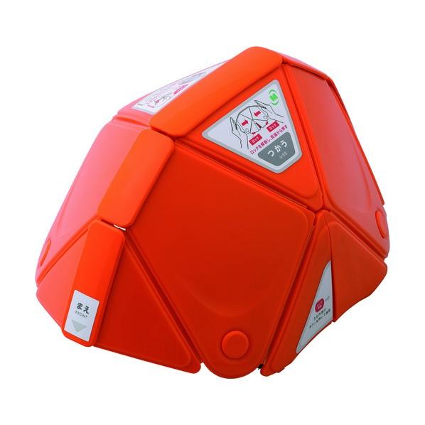【送料無料】ミドリ安全 ミドリ安全 防災用折りたたみヘルメット フラットメット TSC−10 オレンジ 312 x 224 x 44 mm TSC-10-OR