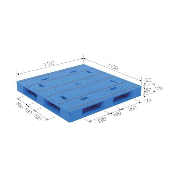 サンコー パレットLX-1111D4-5 ブルー