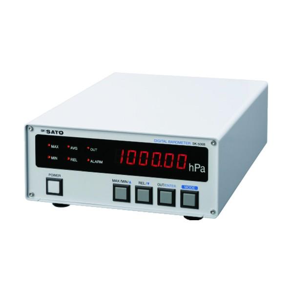 【送料無料】佐藤 佐藤 デジタル気圧計 SK−500B (7630−00) SK-500B 1個