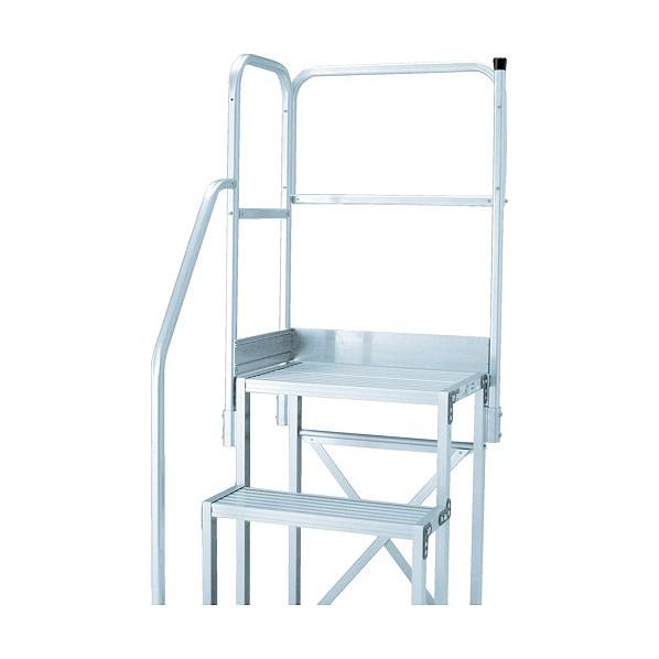 【送料無料】トラスコ(TRUSCO) TRUSCO 作業用踏台用手すり H900 階段片手すり天場二方 TSF−510 TSF-TE15 はしご・脚立 1点