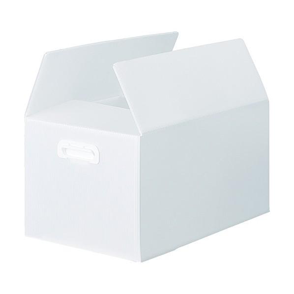 【送料無料】トラスコ(TRUSCO) TRUSCO ダンボールプラスチックケース 5枚セット 果物箱サイズ 取っ手穴なし ブルー TDPKMD5TM