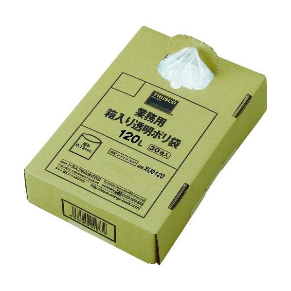 【送料無料】TRUSCO TRUSCO まとめ買い 業務用ポリ袋 透明・箱入 0.15×120L  (30枚入) 545×370×110MM XU0120 30枚