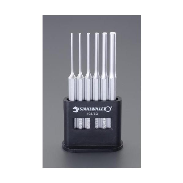 【送料無料】エスコ(esco) 2.5-8.0mm/6本組 平行ピンポンチ EA572S-1 1セット