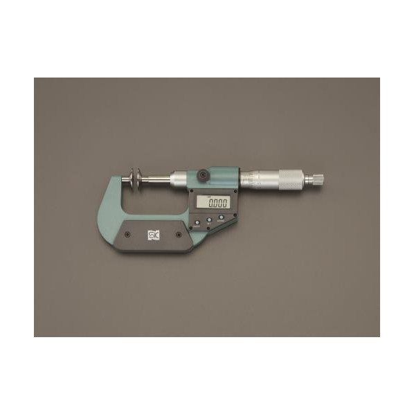 【送料無料】エスコ(esco) 0- 25mm デジタルマイクロメーター(歯厚) EA725EH-75 1個