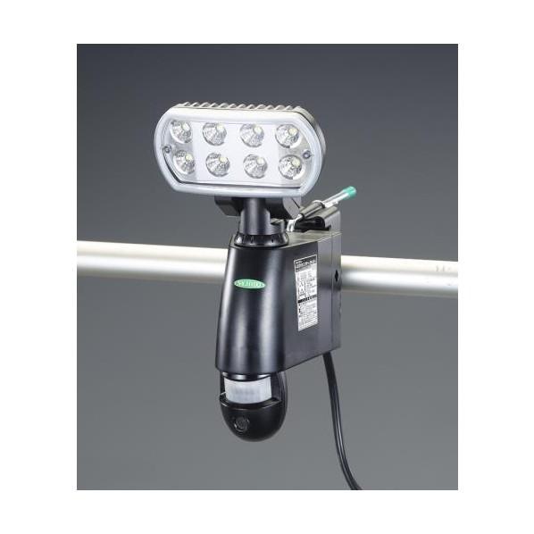 【送料無料】エスコ(esco) AC100V LEDセンサーライト(60Hz/カメラ付) EA864CA-210A 1台
