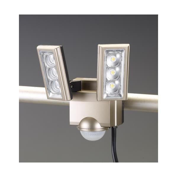 【送料無料】エスコ(esco) AC100V/ 8.0W LEDセンサーライト(2灯) EA864CB-162A 1個