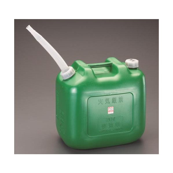 【送料無料】エスコ(esco) 20L ポリ軽油缶(4個) EA991HA-12 4個
