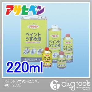ペイントうすめ液  220ml