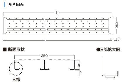 鋼製足場板