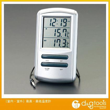 [室内・室外]最高・最低温度計   EA728AC-17