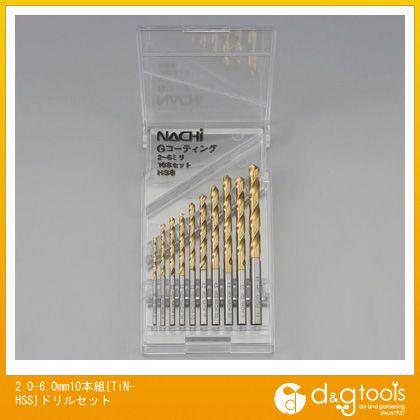 【送料無料】エスコ 2.0-6.0mm10本組[TiN-HSS]ドリルセット EA824N-10C