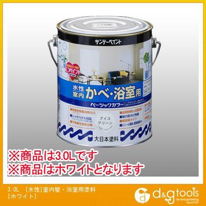 【送料無料】エスコ 3.0L[水性]室内壁・浴室用塗料[ホワイト] EA942EG-21