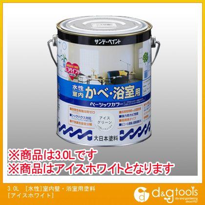 【送料無料】エスコ 3.0L[水性]室内壁・浴室用塗料[アイスホワイト] EA942EG-24