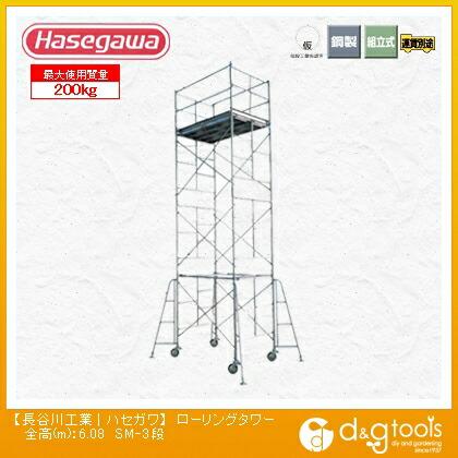 高所作業台ローリングタワー(10702)  全高(m):6.08 SM-3段