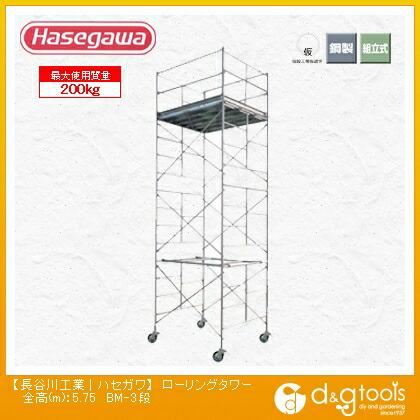 高所作業台ローリングタワー幅広タイプ(10804)  全高(m):5.75 BM-3段