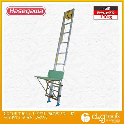 荷揚機簡易式リフトA荷台(12984)  梯子全長3m JA3AX