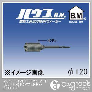 【送料無料】ハウスビーエム ハンマーコアドリル(ハンマードリル用)HCBタイプ(ボディのみ) 120mm HCB-120